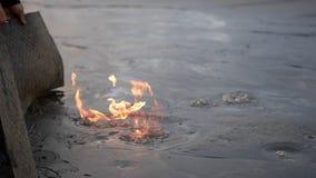 Fron de природного газа глубоко eart сток-видео