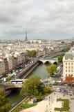 Fron Notre Dame dell'orizzonte di Parigi Fotografie Stock Libere da Diritti