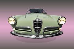 Frong del coche verde viejo Fotografía de archivo libre de regalías