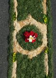 Fronleichnam. Corpus Christi. Flower carpet Stock Photos