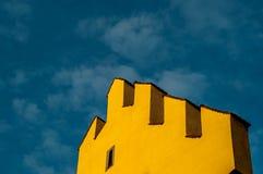 Frontão amarelo Imagem de Stock Royalty Free