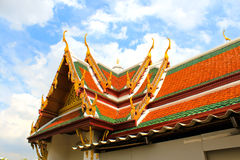 Frontão do templo budista Imagens de Stock Royalty Free