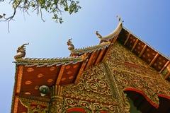Frontão tailandês do templo do buddist Fotos de Stock