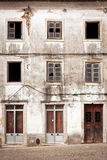 Front of a abandoned building royalty free stock images