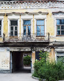 Front of abandoned building Royalty Free Stock Images