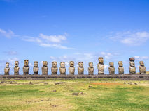 In front of the Ahu Tongariki Royalty Free Stock Photography