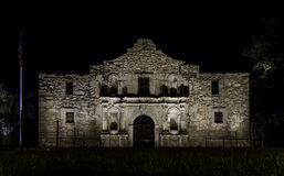 Front of The Alamo at night Stock Image