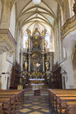 Front altar of the St. James´s church in Kutná hora Royalty Free Stock Images
