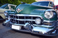Front of an american retro car Royalty Free Stock Photography