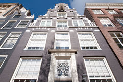 Front of Amsterdam17th century residence building , Netherlands. Royalty Free Stock Photography