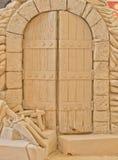 Front of Ancient door. Front of Ancient door of a Haunted House royalty free stock photos