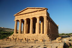 Front of ancient Greek temple Royalty Free Stock Photo
