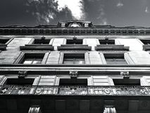 Front of apartment building Stock Image