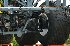 The front axle of the car Stock Photo