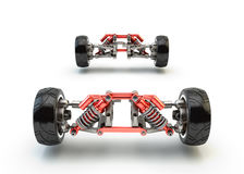 Front axle with suspension Stock Images