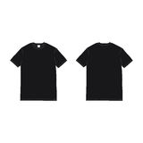 Front and back black tshirt vector. Front and back black t-shirt vector template Stock Image