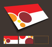 Front and back business card Stock Image