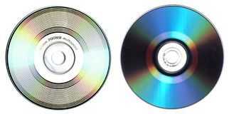 Front and back cd Stock Image