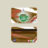 Front And Back Coffee Voucher de la plantilla de la tarjeta del miembro stock de ilustración