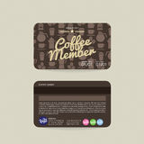 Front And Back Coffee Voucher Of Member Card Template Stock Photos