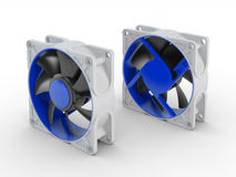 Front and back of computer performance cooling fan Stock Photography