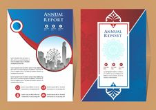 Front and back cover of a modern business brochure layout or flyer royalty free illustration