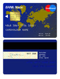Front and back of credit card Stock Photos