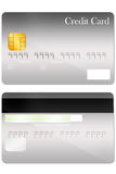Front and back credit card template Stock Image