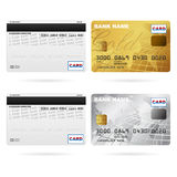 Front and back of credit cards Stock Photos