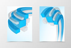 Front and back dynamic geometric flyer template design Stock Photography