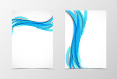 Front and back dynamic wave flyer template design Royalty Free Stock Photography