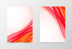 Front and back dynamic wave flyer template design Stock Photography