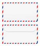Front and back of envelope Royalty Free Stock Photography
