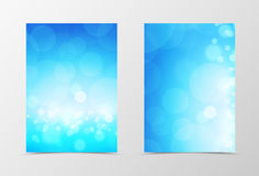 Front and back light flyer template design Stock Image