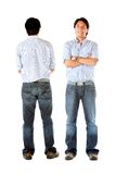Front and back of a man Royalty Free Stock Photography