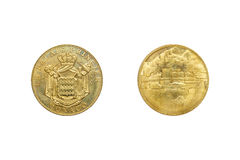 Front and back of Monaco Le Palais Princier 2011 coin. Royalty Free Stock Images