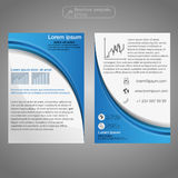 Front and back page brochure template. Layout template. Presentation abstract background for business. Royalty Free Stock Images