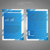 Front and back page brochure template. Layout template. Presentation abstract background for business. Royalty Free Stock Photos