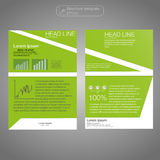 Front and back page brochure template. Layout template. Presentation abstract background for business. Royalty Free Stock Photo