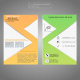 Front and back page brochure template. Layout template. Presentation abstract background for business. Stock Image