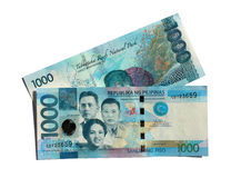 Front & Back 1000 Peso Bills royalty free stock photo
