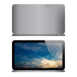 Front And Back Of Popular Laptop Design. Stock Photography