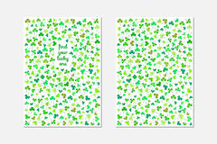Front and back postcard design for St. Patrick's Day Stock Photography