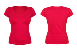 Front and back red t-shirt Royalty Free Stock Image