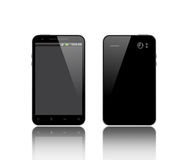 Front and back side of the phone. Front and back side of the smart phone Stock Photography