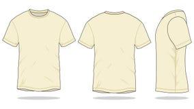 Cream T-Shirt Vector for Template stock illustration