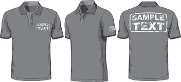 Front, back and side views of polo-shirt. Vector. Views of blank polo-shirt. Vector illustration. Color redact easy Stock Images