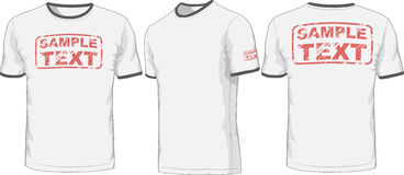 Front, back and side views of t-shirt. Vector Royalty Free Stock Photos