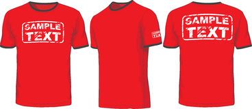 Front, back and side views of t-shirt. Vector Royalty Free Stock Photo