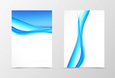 Front and back smooth wave flyer template design Royalty Free Stock Photos
